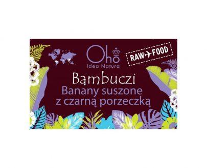 Banany susz. z czarną porzeczką OHO BIO 50g-Flott