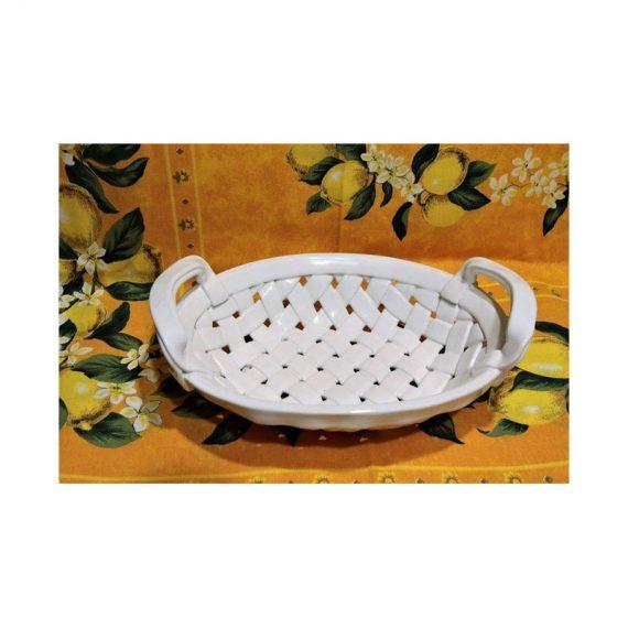 Koszyczek ceramiczny owalny