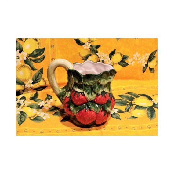 Dzbanek ceramiczny truskawka